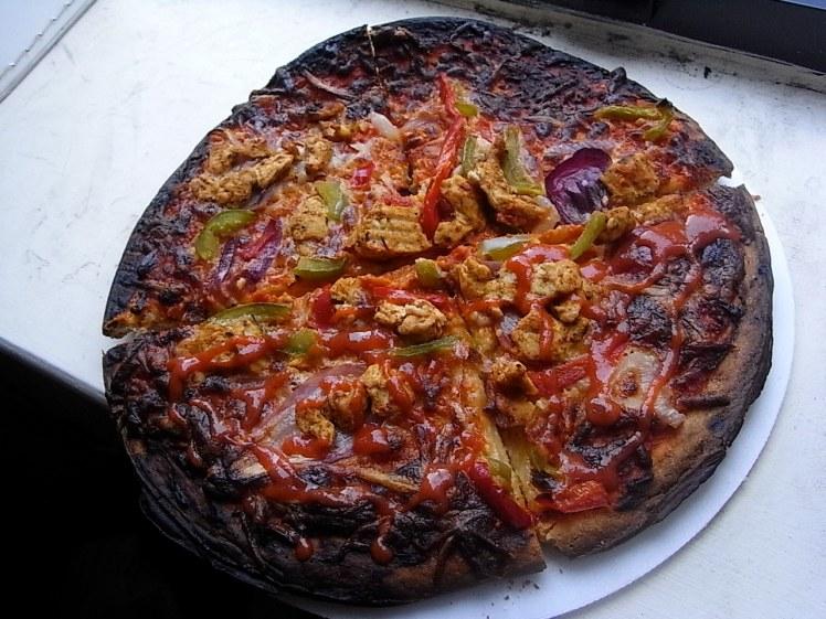 Pizza brûlée
