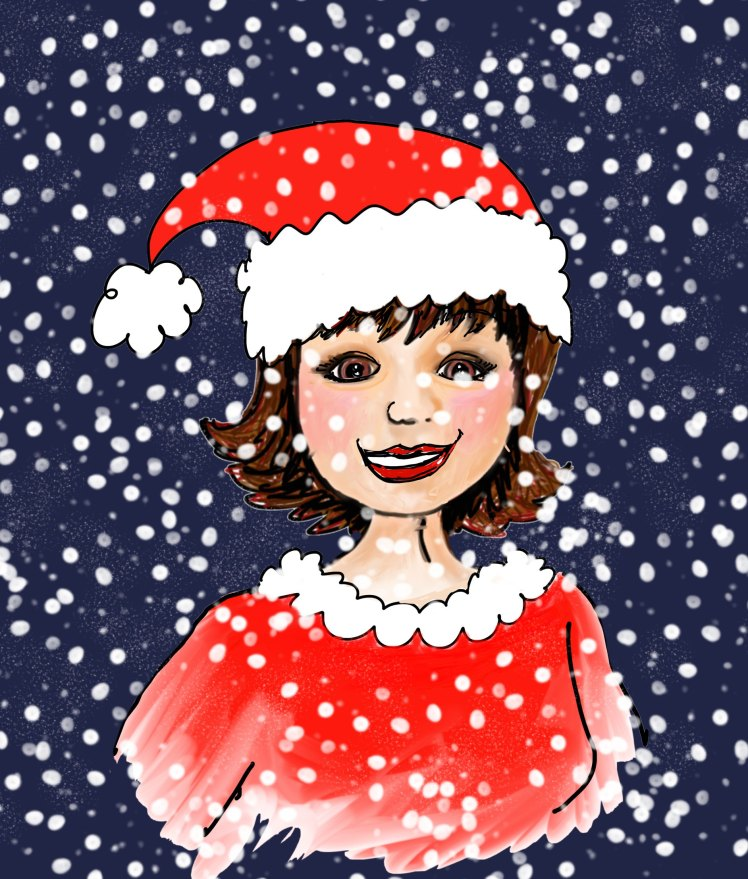 Julie Noël avec fond