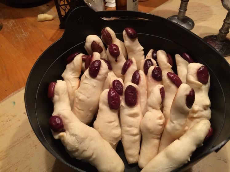 Doigts en pain à l'ail