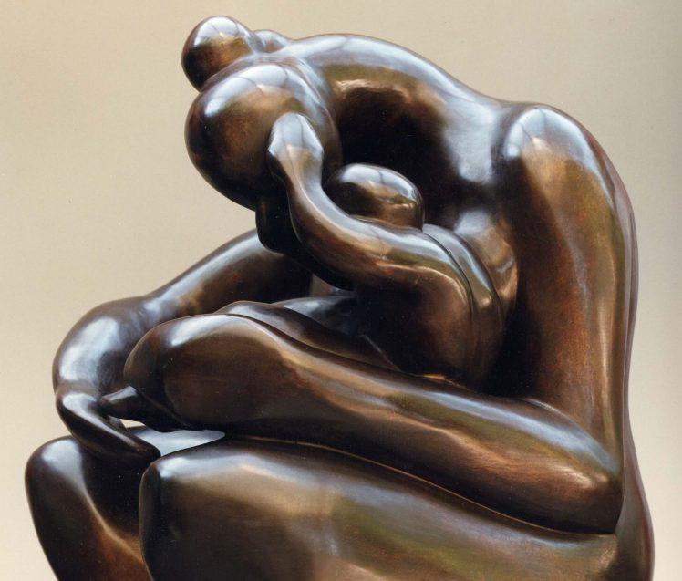 Bronze mère et enfant