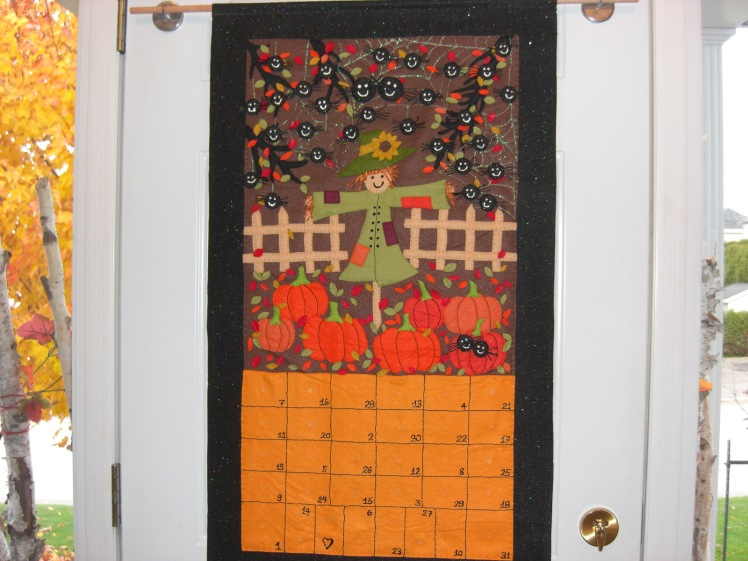 Le calendrier d'Halloween