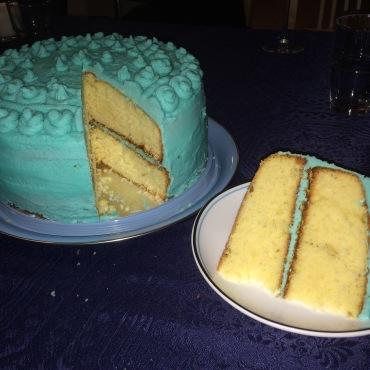 Mon gâteau bleu