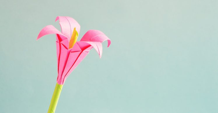 Fleur en origami
