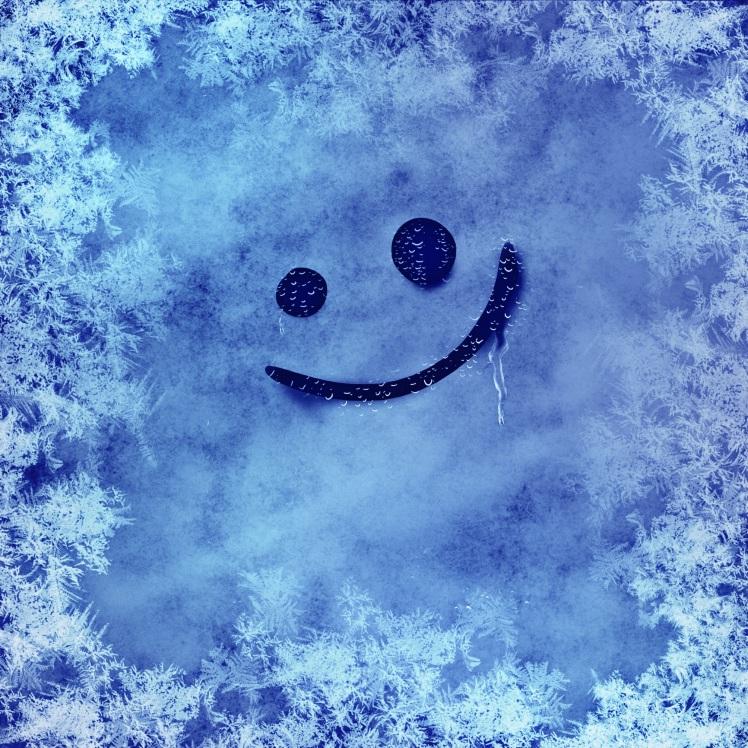 L'ange rit de l'hiver