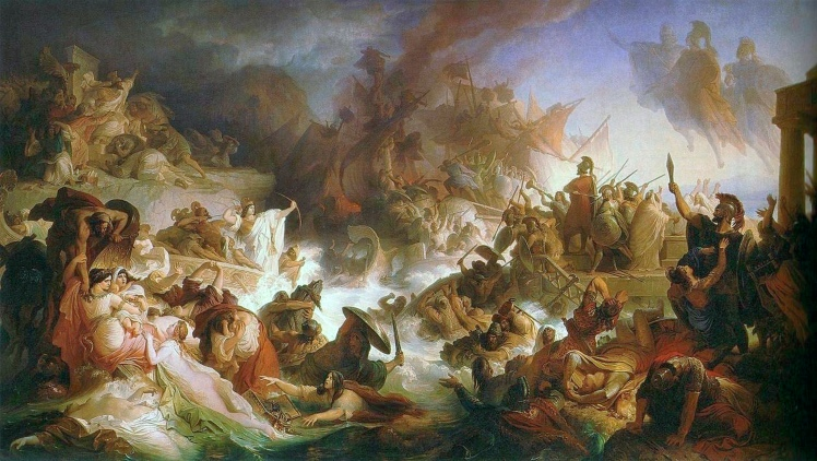 Die Seeschlacht bei Salamis_-_1868